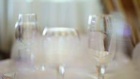 Стекла вин сток-видео