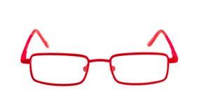 стекла глаза красные стоковое изображение