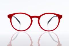 стекла глаза красные стоковая фотография