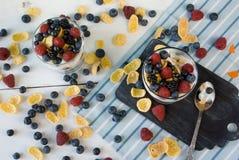 2 стекла десерта Стоковая Фотография RF