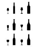 Стекла и бутылки Стоковая Фотография RF