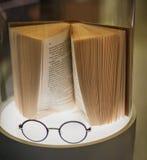Стекла и и книга Стоковая Фотография RF