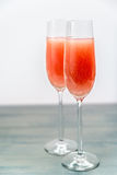 2 стекла коктеиля bellini Стоковые Фото