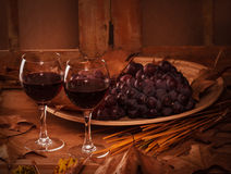 2 стекла красного вина Стоковое Изображение