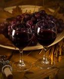 2 стекла красного вина Стоковые Изображения RF