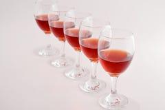 Стекла красного вина Стоковые Изображения RF