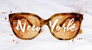 Стекла Нью-Йорк акварели бесплатная иллюстрация