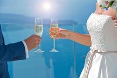 стекла пар шампанского wedding Стоковое Изображение