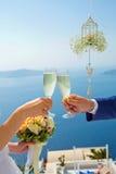 стекла пар шампанского wedding Стоковые Фотографии RF
