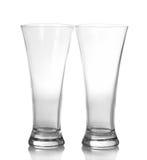 2 стекла пива пустых Стоковые Фотографии RF