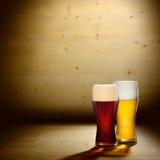 стекла пива 2 Стоковая Фотография