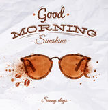 Стекла пятна кофе плаката Стоковые Фото