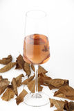Стекла розового вина Стоковые Фото