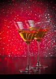 2 стекла свежего коктеиля на таблице бара Стоковая Фотография