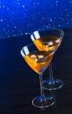Стекла свежего коктеиля с льдом на таблице бара Стоковое Фото