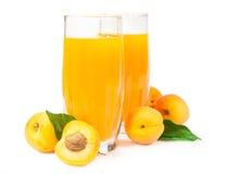 2 стекла сока абрикоса Стоковые Изображения