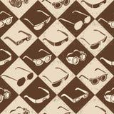 Стекла, солнечные очки и 3D-glasses безшовные Стоковое Изображение RF