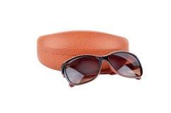 Случай стекел и eyeglasses Солнця Стоковое Изображение