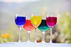 Стекла с красочным вином Стоковая Фотография RF