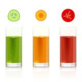 Стекла с свежими vegetable соками бесплатная иллюстрация