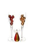 2 стекла с украшением ангела рождества Стоковое Изображение RF
