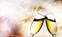 Стекла с шампанским Стоковое Фото