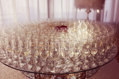 Стекла с шампанским Стоковые Изображения RF