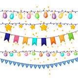 стекла украшения декора шампанского пустые над белизной шелка 2 партии Стоковое Изображение