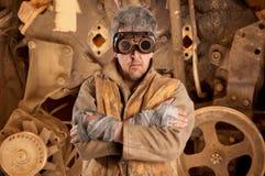 Стекла человека Steampunk нося стоковое фото