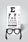 Стекла чтения смотря испытание глаза Стоковая Фотография