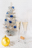 Стекла шампанского вина Стоковое фото RF