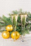 Стекла шампанского вина Стоковое Изображение RF