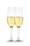 2 стекла шампанского изолированного на белизне Стоковые Изображения