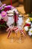 стекла 2 шампанского пустые wedding Стоковое Изображение RF