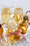 2 стекла шампанского рождества Стоковое Фото
