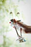 Стекла шампанского свадьбы Стоковая Фотография