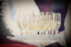 Стекла шампанского для wedding Стоковые Изображения RF