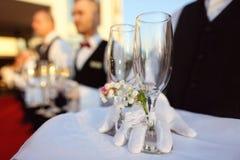 Стекла шампанского Стоковое фото RF