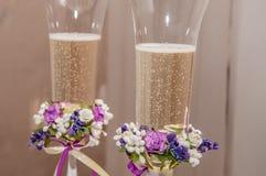 стекла шампанского wedding Стоковые Изображения RF