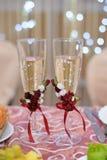 стекла шампанского wedding Стоковое Изображение