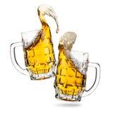 Стекла Clink пив стоковое изображение rf