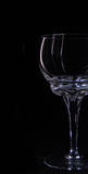 Стекла silhouettes выпивая стекло на черном illumin предпосылки Стоковые Фотографии RF