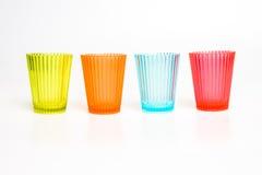 Стекла Smalll красочные пластичные Стоковые Фотографии RF