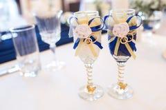 2 стекла wedding Стоковое фото RF