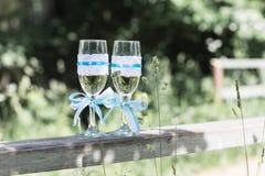2 стекла wedding Стоковое Изображение