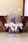 стекла 2 wedding Стоковое Изображение RF