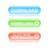 Стекловидные кнопки загрузки. бесплатная иллюстрация