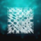 Стекло вектора - иллюстрация куба Элемент HUD Стоковое Фото