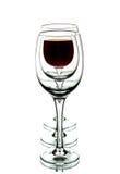 Стекло вина и пустых стекел. Стоковая Фотография RF