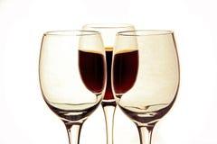 Стекло вина и пустых стекел. Стоковые Изображения